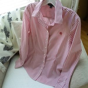 BROOKS Brothers 346 FITTED Button DOWN Shirt SZ 8